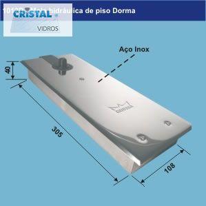 MOLA HIDRÁULICA DE PISO ( DORMA E GLASS VETRÔ)